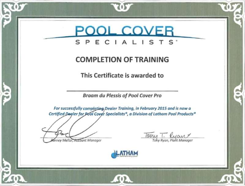 Certified Pool Cover Installer