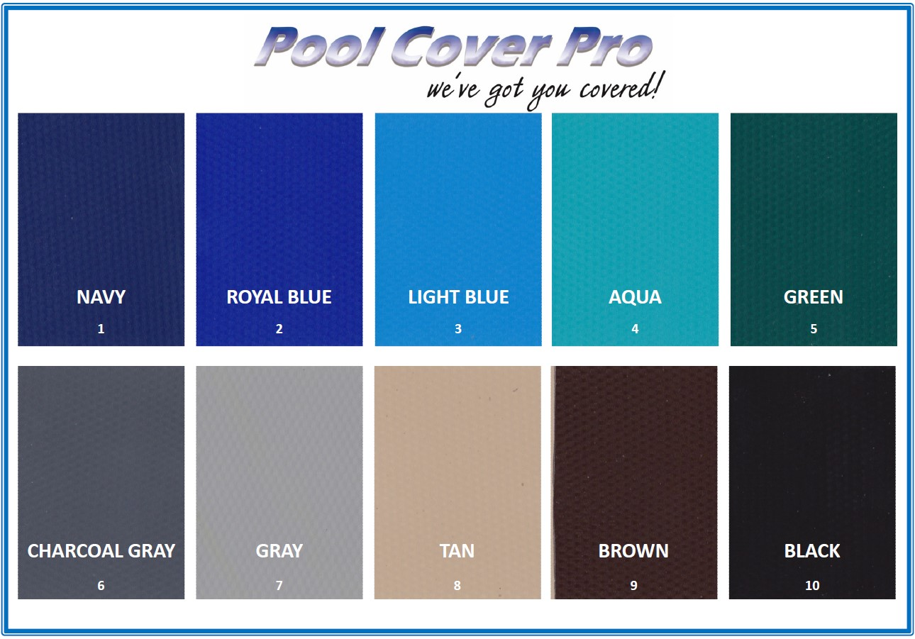pool cover colors